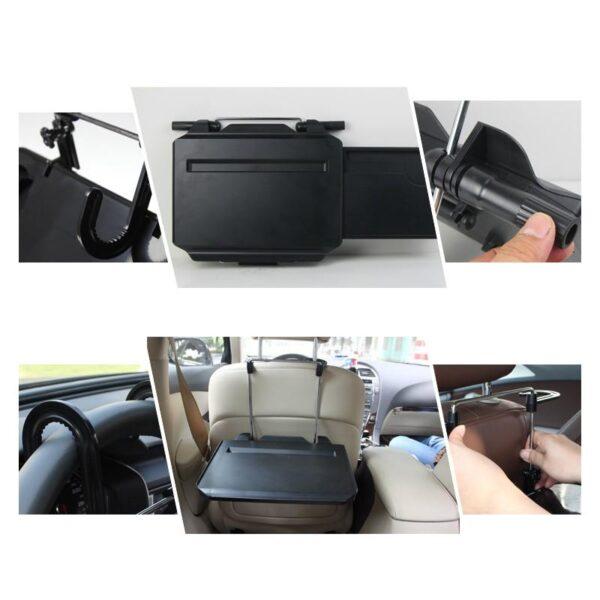 38662 - Автомобильный раскладной столик для руля, сиденья автомобиля: углубление для планшета, выдвижная столешница для мыши