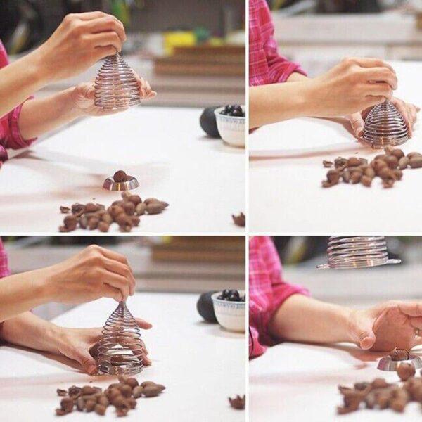 38690 - Пружинный орехокол-щелкунчик для всех видов орехов