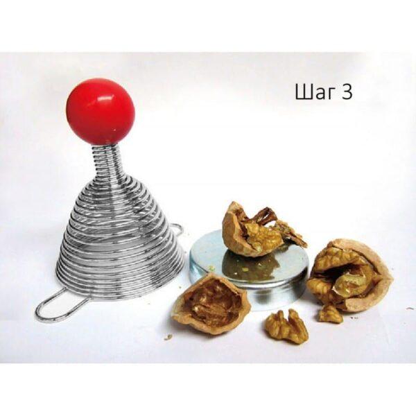 38693 - Пружинный орехокол-щелкунчик для всех видов орехов
