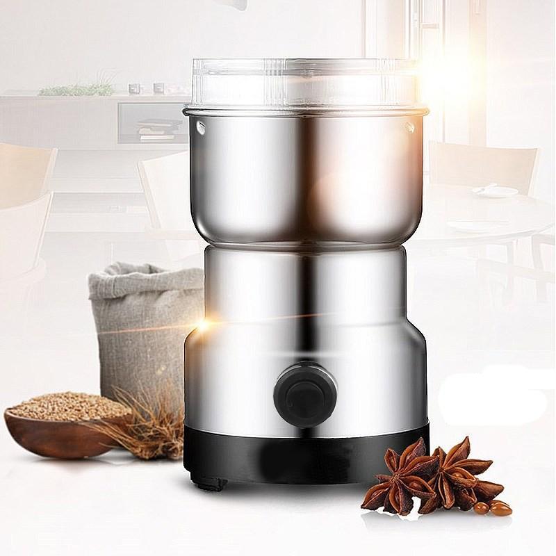 38699 - Портативная электрическая кофемолка Freshener Grinder: стальные лезвия, простой дизайн