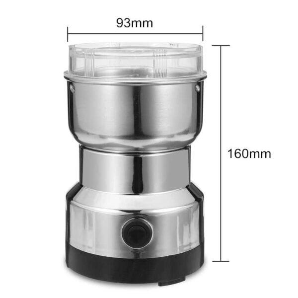 38702 - Портативная электрическая кофемолка Freshener Grinder: стальные лезвия, простой дизайн