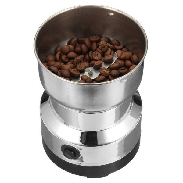 38707 - Портативная электрическая кофемолка Freshener Grinder: стальные лезвия, простой дизайн