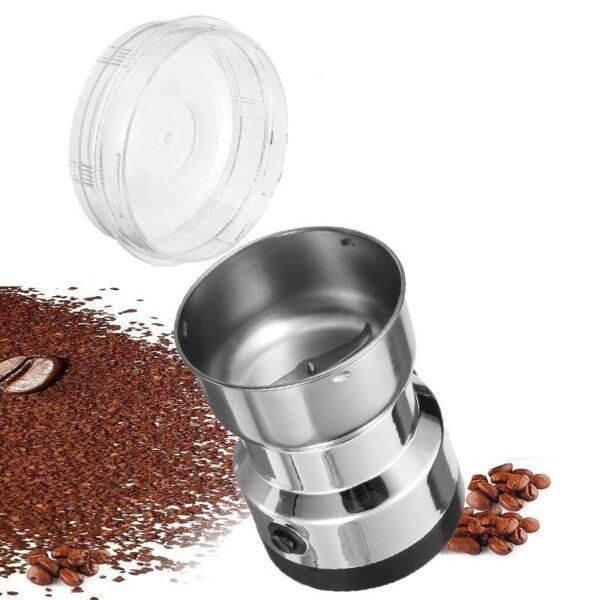 38709 - Портативная электрическая кофемолка Freshener Grinder: стальные лезвия, простой дизайн