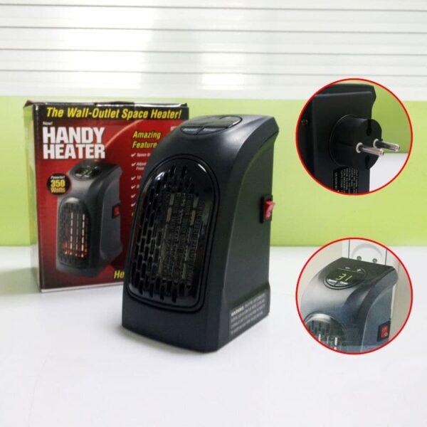 38711 - Портативный настенный мини-обогреватель Handy Heater: 350Вт, защита от перегрева, выбор температуры, таймер
