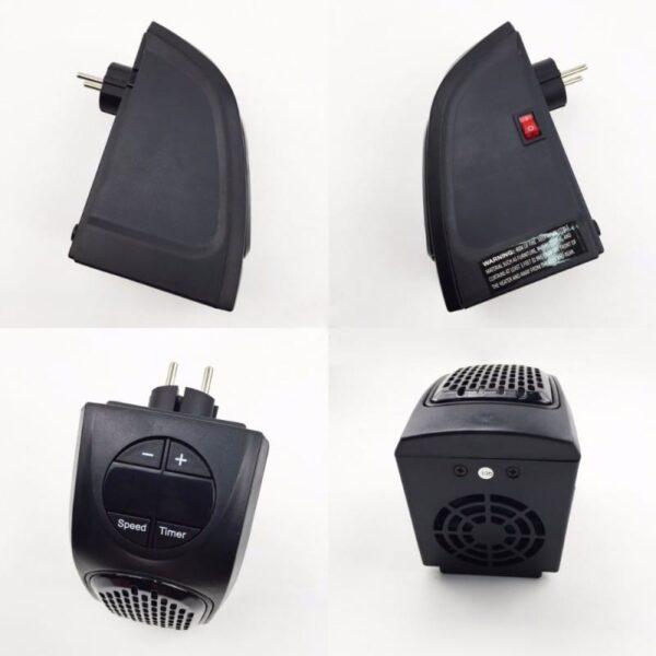 38713 - Портативный настенный мини-обогреватель Handy Heater: 350Вт, защита от перегрева, выбор температуры, таймер