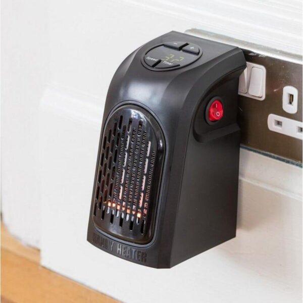 38716 - Портативный настенный мини-обогреватель Handy Heater: 350Вт, защита от перегрева, выбор температуры, таймер