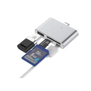 Ультратонкий USB 3.1 Type-C карт-ридер (CF/ SD/ TF Micro SD) + адаптер с функцией OTG + зарядное