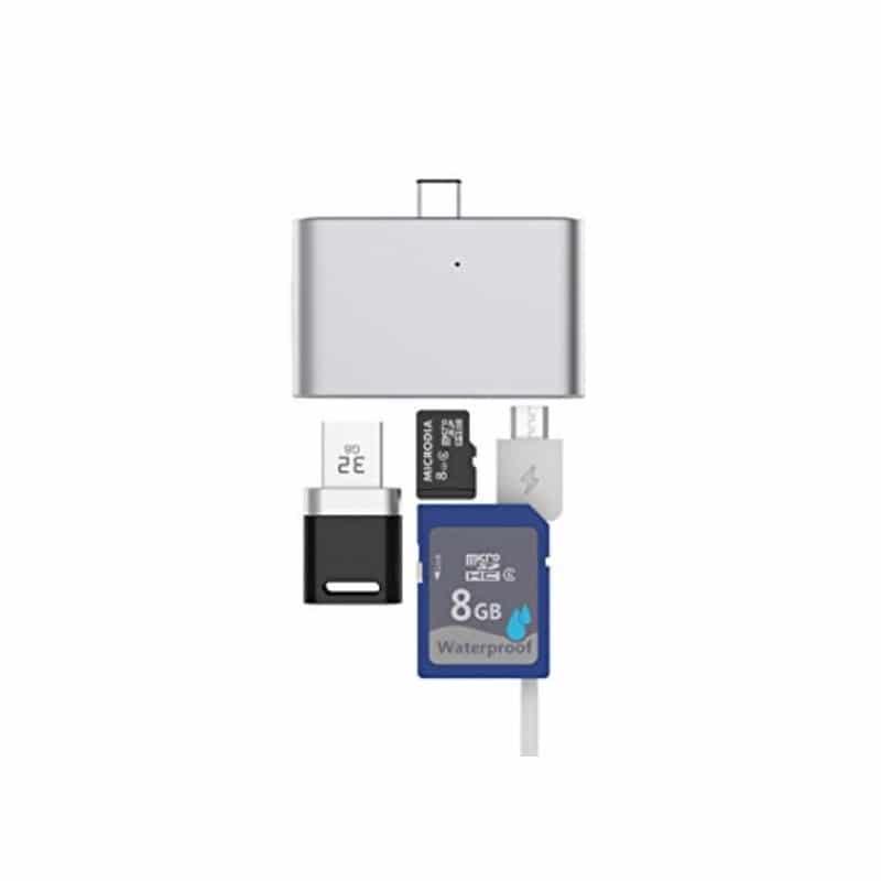 Ультратонкий USB 3.1 Type-C карт-ридер (CF/ SD/ TF Micro SD) + адаптер с функцией OTG + зарядное 214405