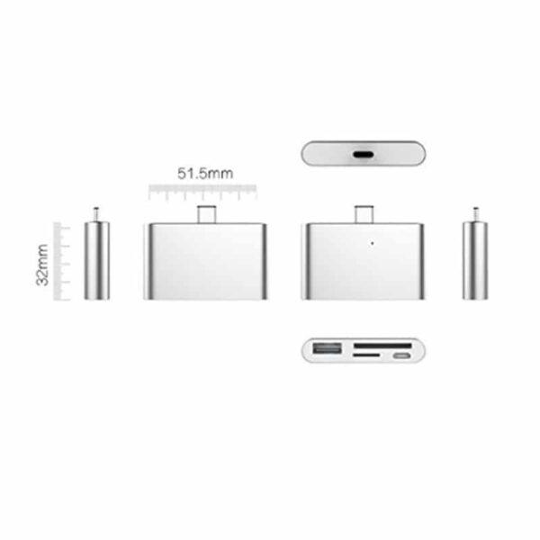 38751 - Ультратонкий USB 3.1 Type-C карт-ридер (CF/ SD/ TF Micro SD) + адаптер с функцией OTG + зарядное