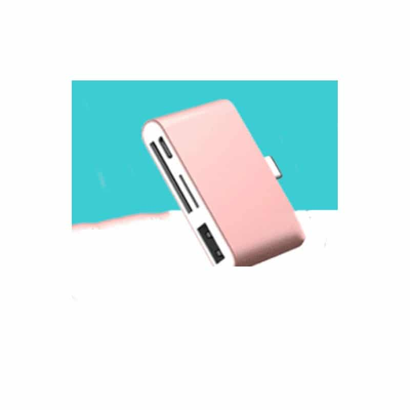 Ультратонкий USB 3.1 Type-C карт-ридер (CF/ SD/ TF Micro SD) + адаптер с функцией OTG + зарядное 214410