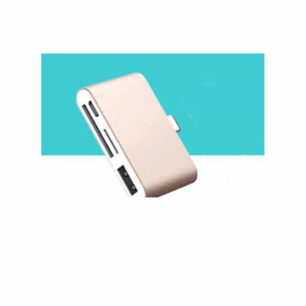 38758 - Ультратонкий USB 3.1 Type-C карт-ридер (CF/ SD/ TF Micro SD) + адаптер с функцией OTG + зарядное