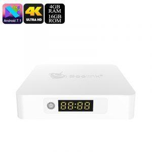 ТВ-приставка Beelink A1: Android 7.1, RK3328 4 ядра, 4 Гб/ 16 Гб, поддержка 4K, Miracast, 5G WiFi, Bluetooth 4.1, Google Play