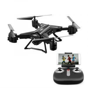 Складной квадрокоптер (дрон) с камерой: 680мАч, 7 мин. полета, WiFi, 3D-флип, Headless Mode, 3 скорости, доступ со смартфона