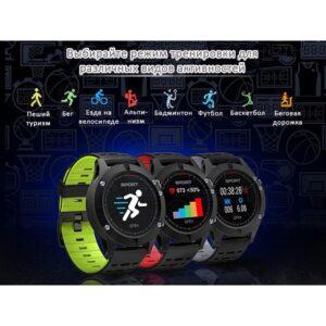Bluetooth смарт-часы No.1 F5: синхронизация со смартфоном, шагомер, пульсометр, барометр, термометр, альтиметр, IP67