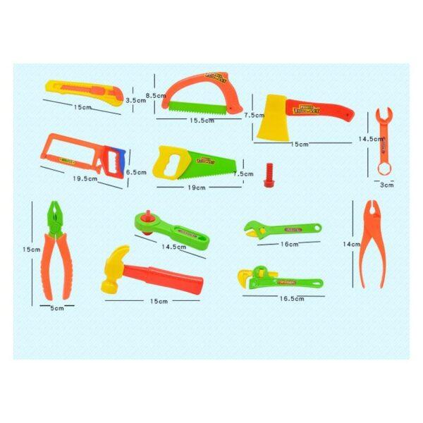 38895 - Детский игрушечный набор инструментов для мальчика + каска: 32 детали