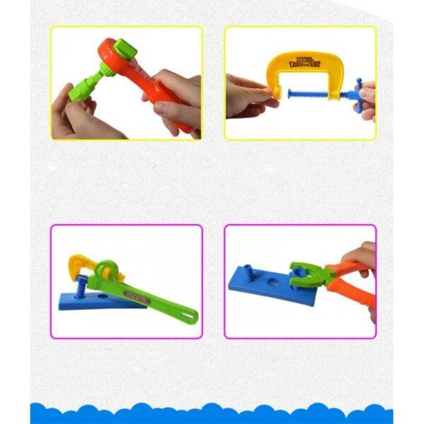 38900 - Детский игрушечный набор инструментов для мальчика + каска: 32 детали