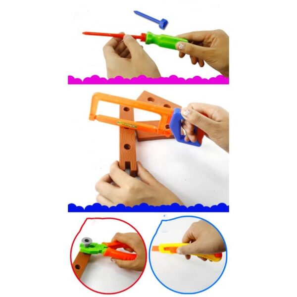 38902 - Детский игрушечный набор инструментов для мальчика + каска: 32 детали