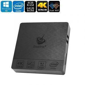 Мини-ПК Beelink BT3 Pro: Intel Atom X5-Z8350, 4Гб DDR3 ОЗУ, Windows 10, 64Гб ROM, 128Гб Micro SD карта, 5G WiFi