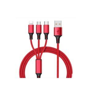 Зарядный кабель-переходник 3 в 1: USB Type-C, Micro USB, Lightning разъем Apple