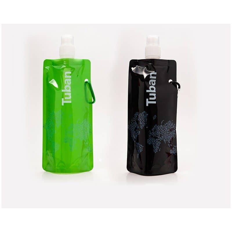 Походная складная бутылка-тюбик с карабином Tuban 480 мл
