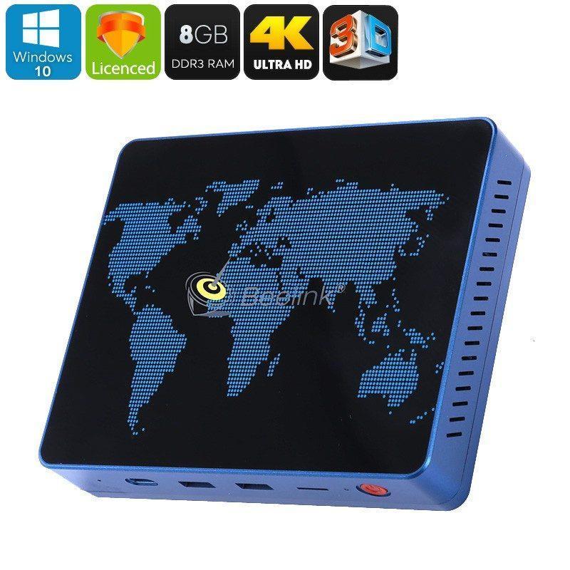 Мини-ПК Beelink S1: Windows 10 лиц., Intel Apollo Lake N3450, 8Гб DDR3/64Гб ROM, 5G WiFi, 128Гб MicroSD, 4K, Type-C, SATA 3.0