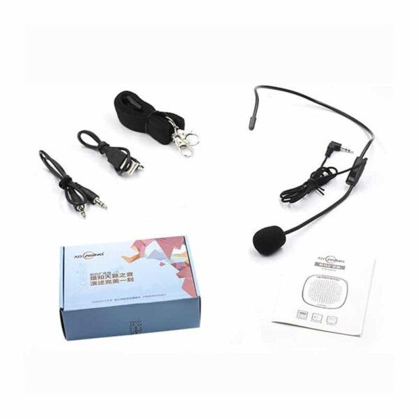 39131 - Портативный усилитель-громкоговоритель с микрофоном и колонкой S1015 (Micro SD, AUX IN, FM, диктофон)