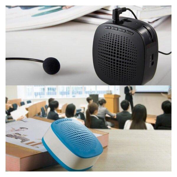 39135 - Портативный усилитель-громкоговоритель с микрофоном и колонкой S1015 (Micro SD, AUX IN, FM, диктофон)