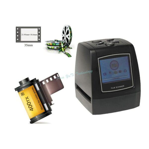 39233 - USB-сканер с ЖК-монитором для оцифровки 35 мм фотопленки, слайдов JubySkan: 5Мп (10Мп интерпол-я), поддержка SD-карты до 32Гб