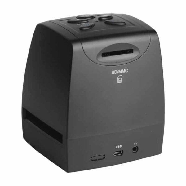 39237 - USB-сканер с ЖК-монитором для оцифровки 35 мм фотопленки, слайдов JubySkan: 5Мп (10Мп интерпол-я), поддержка SD-карты до 32Гб