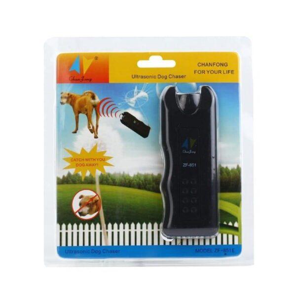 39255 - Ультразвуковой отпугиватель собак Baskervil ZF851 c ярким фонариком