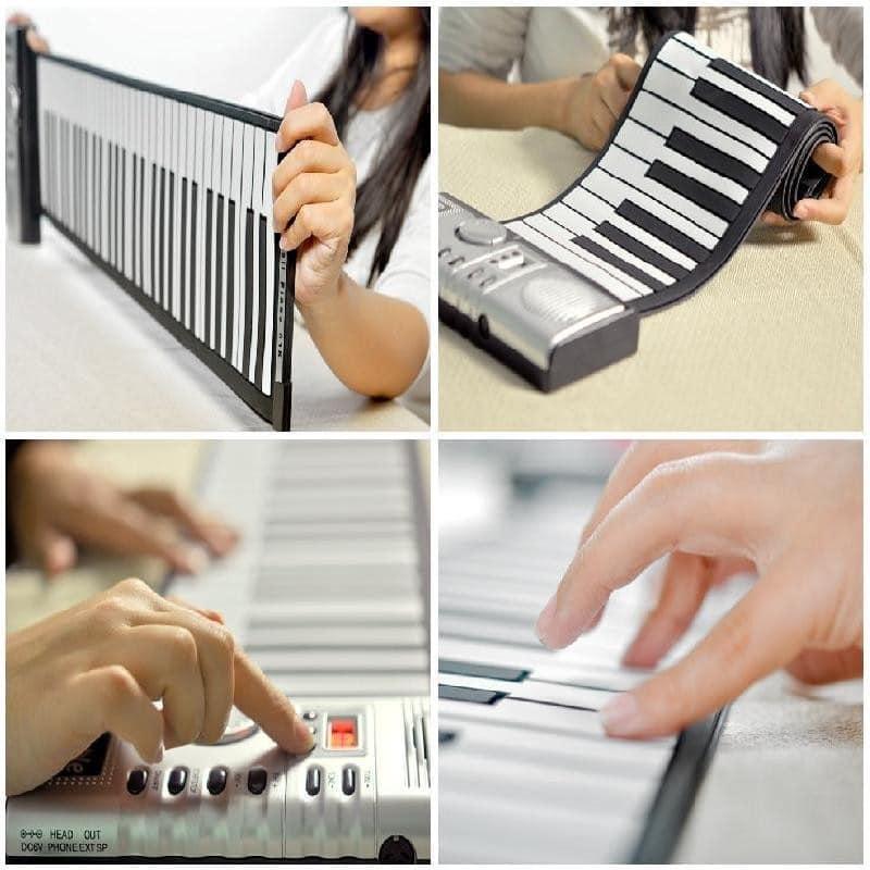 Гибкое пианино-клавиатура со встроенным аккумулятором (1000 мАч) Konix Profy: 88 клавиш, 140 тонов, 128 ритмов, педаль 214841