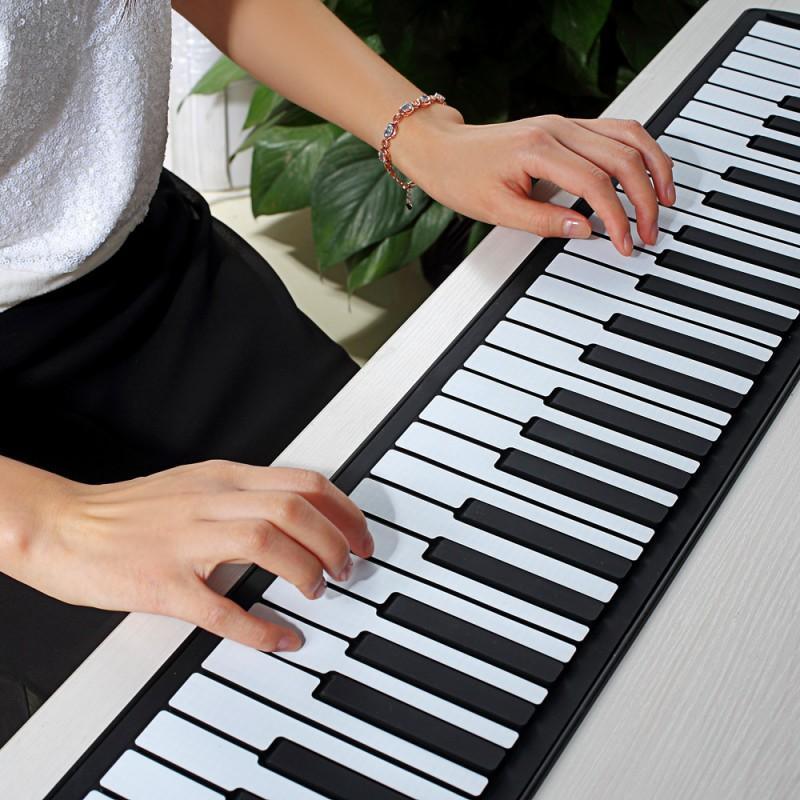 Гибкое пианино-клавиатура со встроенным аккумулятором (1000 мАч) Konix Profy: 88 клавиш, 140 тонов, 128 ритмов, педаль 214842