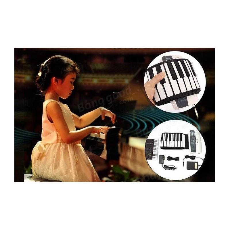 Гибкое пианино-клавиатура со встроенным аккумулятором (1000 мАч) Konix Profy: 88 клавиш, 140 тонов, 128 ритмов, педаль 214843