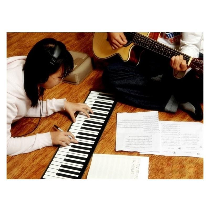 Гибкое пианино-клавиатура со встроенным аккумулятором (1000 мАч) Konix Profy: 88 клавиш, 140 тонов, 128 ритмов, педаль 214844