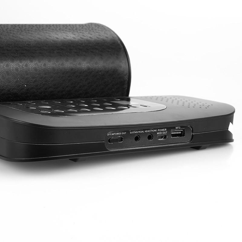 Гибкое пианино-клавиатура со встроенным аккумулятором (1000 мАч) Konix Profy: 88 клавиш, 140 тонов, 128 ритмов, педаль 214851