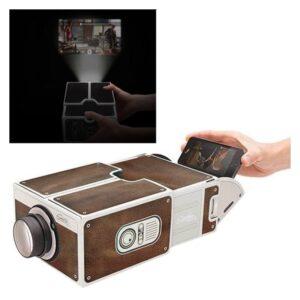 Картонный складной проектор для смартфона (DIY портативный кинотеатр) CinemaTron: 8Х зум, подходит для любых смартфонов