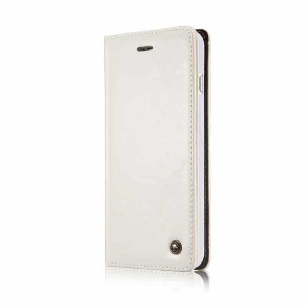39443 - Кожаный чехол CaseMe003 для iPhone X с подставкой-держателем, слотами для карт и кошельком: PU-кожа, бизнес-стиль