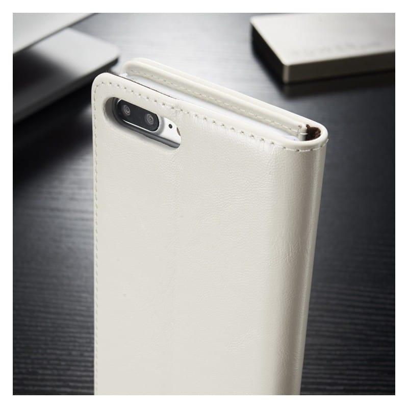 Кожаный чехол CaseMe003 для iPhone X с подставкой-держателем, слотами для карт и кошельком: PU-кожа, бизнес-стиль 215007