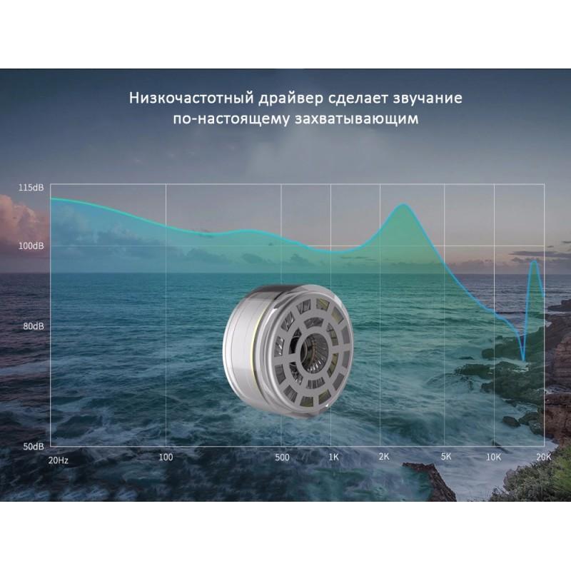 Гибридные Hi-Fi наушники KZ (Knowledge Zenith) ZSR с гарнитурой и съемным кабелем: 22 Ом, 107дБ, 10-40000Гц, кабель 1,2 м 215016