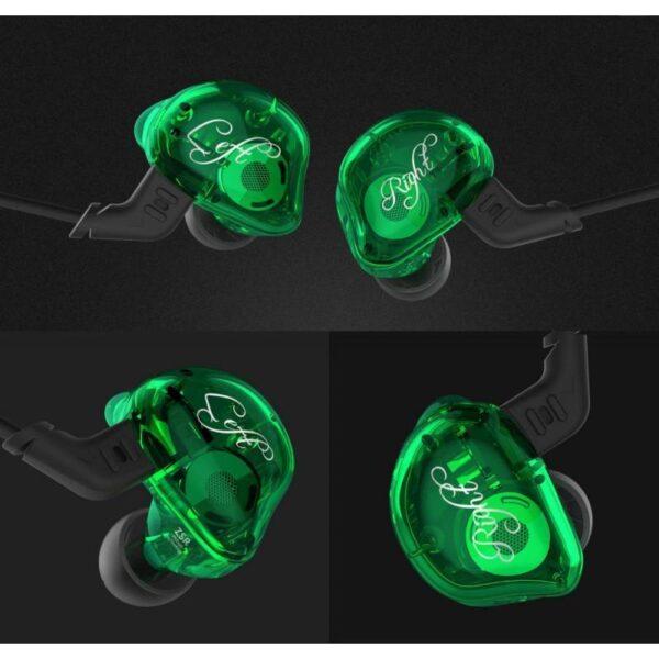 39460 - Гибридные Hi-Fi наушники KZ (Knowledge Zenith) ZSR с гарнитурой и съемным кабелем: 22 Ом, 107дБ, 10-40000Гц, кабель 1,2 м