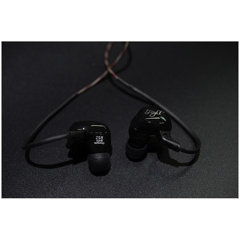 Гибридные Hi-Fi наушники KZ (Knowledge Zenith) ZSR с гарнитурой и съемным кабелем: 22 Ом, 107дБ, 10-40000Гц, кабель 1,2 м 215028