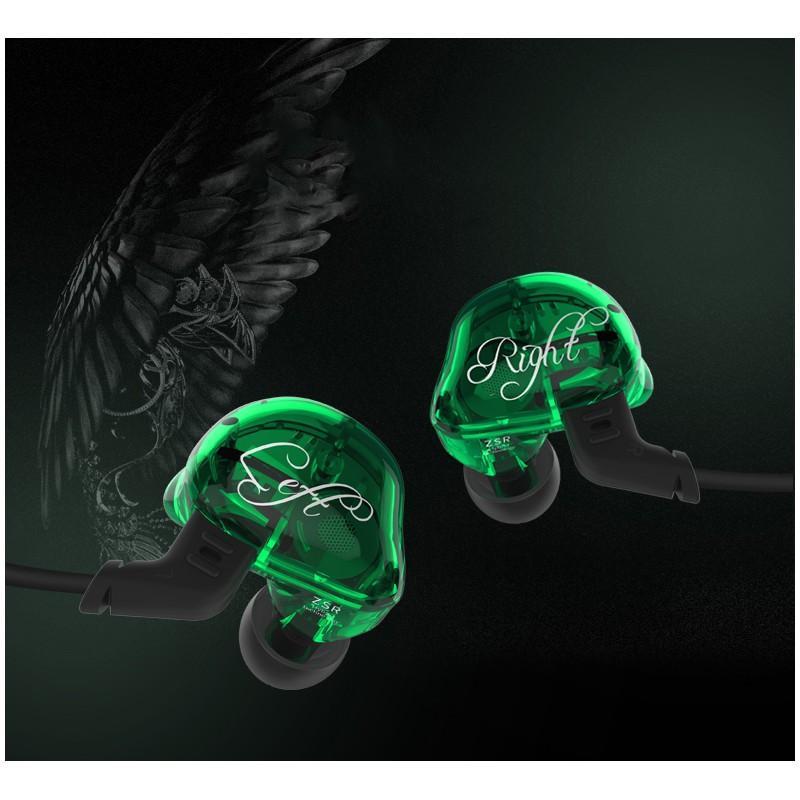 Гибридные Hi-Fi наушники KZ (Knowledge Zenith) ZSR с гарнитурой и съемным кабелем: 22 Ом, 107дБ, 10-40000Гц, кабель 1,2 м 215029