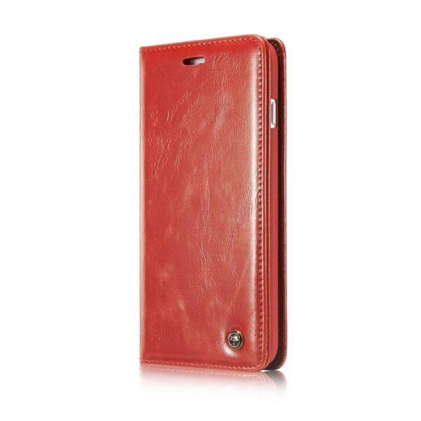 39473 - Кожаный чехол CaseMe003 для iPhone 7/8 с подставкой-держателем, слотами для карт и кошельком: PU-кожа, бизнес-стиль