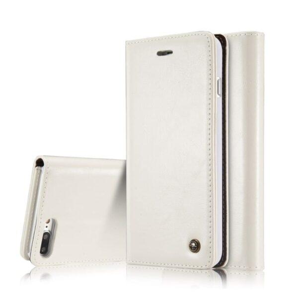 39476 - Кожаный чехол CaseMe003 для iPhone 7/8 с подставкой-держателем, слотами для карт и кошельком: PU-кожа, бизнес-стиль