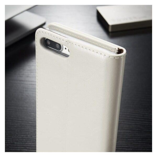 39479 - Кожаный чехол CaseMe003 для iPhone 7/8 с подставкой-держателем, слотами для карт и кошельком: PU-кожа, бизнес-стиль