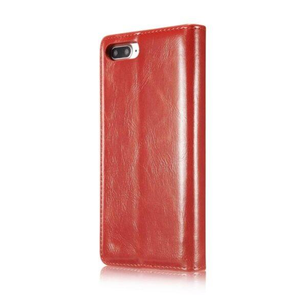 39502 - Кожаный чехол CaseMe003 для iPhone 8 Plus/ 7 Plus с подставкой-держателем, слотами для карт и кошельком: PU-кожа, бизнес-стиль