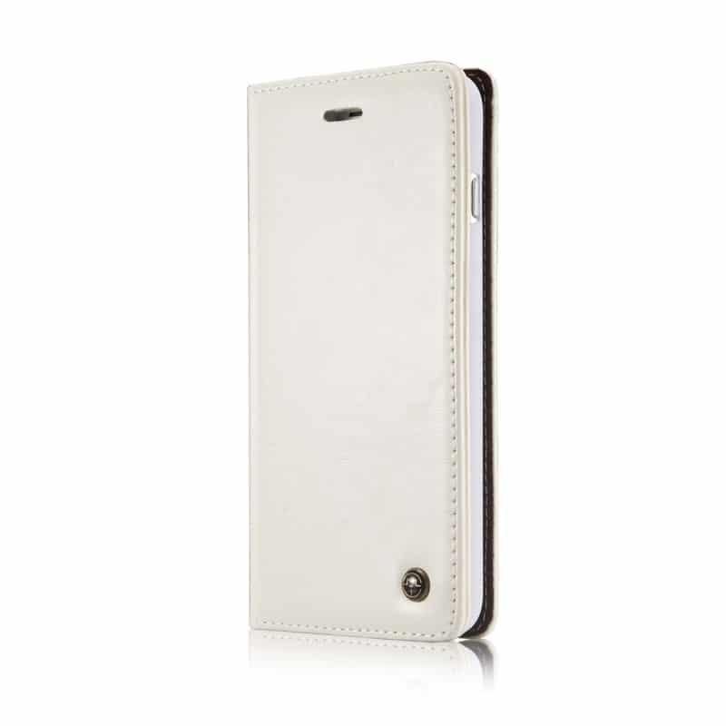 Кожаный чехол CaseMe003 для iPhone 8 Plus/ 7 Plus с подставкой-держателем, слотами для карт и кошельком: PU-кожа, бизнес-стиль 215062