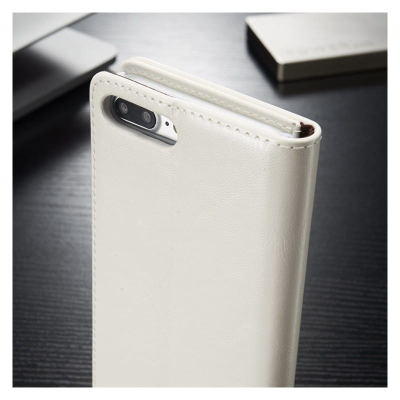 Кожаный чехол CaseMe003 для iPhone 8 Plus/ 7 Plus с подставкой-держателем, слотами для карт и кошельком: PU-кожа, бизнес-стиль 215064