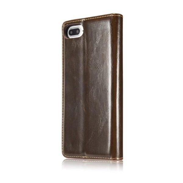 39510 - Кожаный чехол CaseMe003 для iPhone 8 Plus/ 7 Plus с подставкой-держателем, слотами для карт и кошельком: PU-кожа, бизнес-стиль
