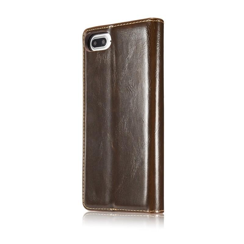 Кожаный чехол CaseMe003 для iPhone 8 Plus/ 7 Plus с подставкой-держателем, слотами для карт и кошельком: PU-кожа, бизнес-стиль 215067